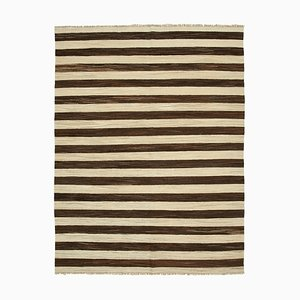 Brown Handmade Turkish Wool Flatwave Kilim Carpet