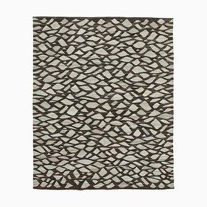 Grey Handmade Turkish Wool Flatwave Kilim Carpet
