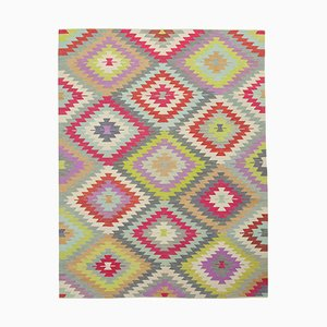 Multicolor Hand Knotted Oriental Wool Flatwave Kilim Carpet