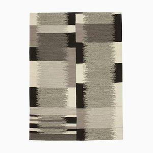 Beige Handmade Anatolian Wool Flatwave Kilim Carpet
