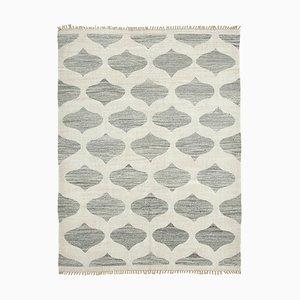 Grey Handwoven Decorative Flatwave Large Kilim Carpet