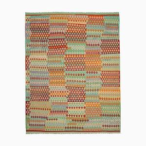 Multicolor Handmade Anatolian Wool Flatwave Kilim Carpet