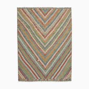 Mehrschichtiger Flatwave Kilim Teppich aus Geometrischem Design