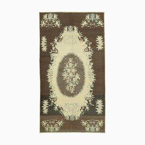 Handgearbeiteter zeitgenössischer Handgeknüpfter Stammes- Vintage Teppich aus Wolle