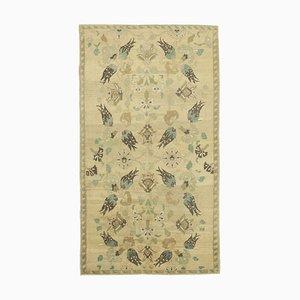 Handgeknüpfter orientalischer handgewebter Stammes- Vintage Teppich aus Wolle