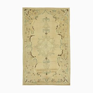 Handgemachter Beiger Vintage Teppich aus handgewebter Wolle
