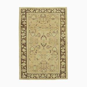 Beige Turkish Handmade Antique Tribal Vintage Carpet