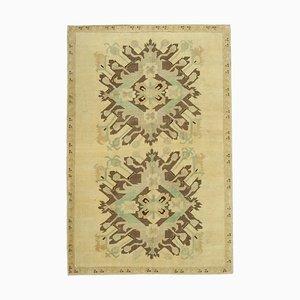 Beige Decorative Handmade Antique Tribal Vintage Carpet