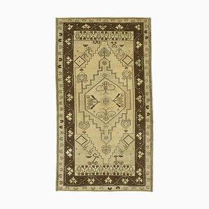 Beige Oriental Handwoven Antique Tribal Vintage Carpet