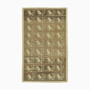 Beige Antique Handwoven Antique Tribal Vintage Carpet