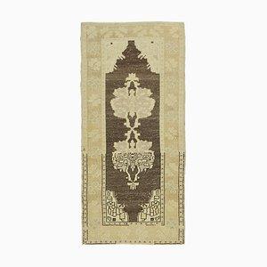 Handgemachter Beiger Handgeknüpfter Antiker Vintage Vintage Teppich