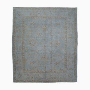 Grey Oriental Handmade Wool Oushak Carpet