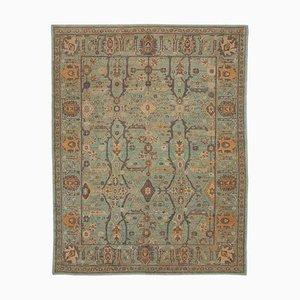 Türkischer Handgewebter Antiker Oushak Teppich