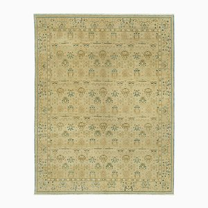 Green Traditional Hand Knotted Wool Oushak Carpet