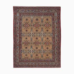 Red Turkish Handmade Wool Oushak Carpet