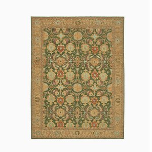 Green Antique Handmade Wool Oushak Carpet