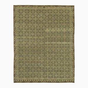 Brown Decorative Handwoven Antique Oushak Carpet