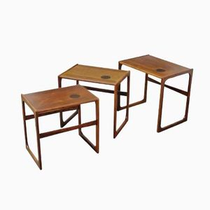 Danish Rosewood Nesting Tables from GR Gelsted, Set of 3