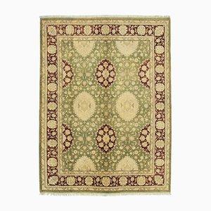 Green Decorative Handwoven Antique Oushak Carpet