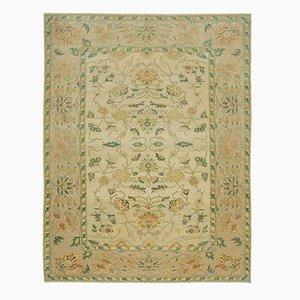 Handgewebter anatolischer antiker Oushak Teppich aus Wolle