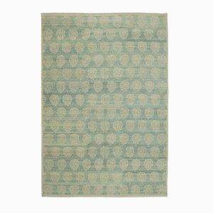 Blue Anatolian Handwoven Antique Oushak Carpet