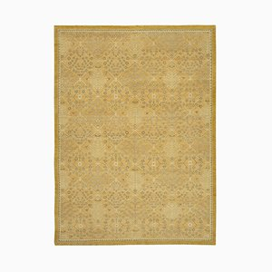 Red Traditional Handmade Wool Oushak Carpet