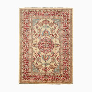 Red Antique Handmade Wool Oushak Carpet