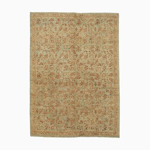 Brown Anatolian Handmade Wool Oushak Carpet