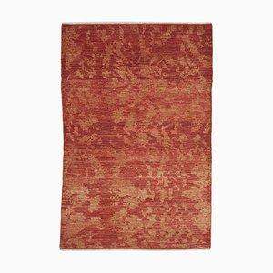 Red Oriental Handwoven Antique Oushak Carpet