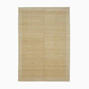 Beige Traditional Handwoven Antique Oushak Carpet