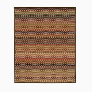 Red Decorative Hand Knotted Wool Oushak Carpet