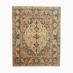 Yellow Traditional Handwoven Antique Oushak Carpet