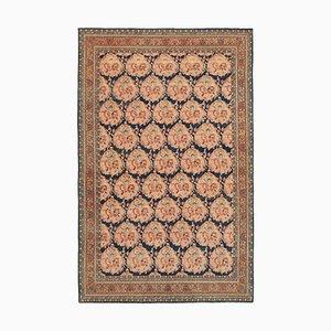 Orange Decorative Hand Knotted Wool Oushak Carpet