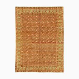 Yellow Turkish Handmade Wool Oushak Carpet