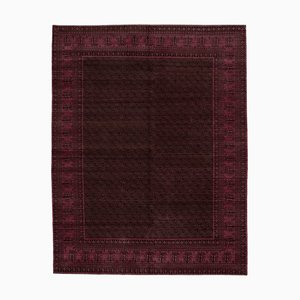 Fuchsia Traditional Handwoven Antique Oushak Carpet
