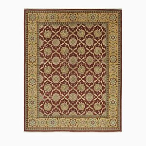 Red Traditional Hand Knotted Wool Oushak Carpet