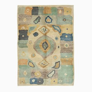 Multicolor Turkish Handmade Wool Oushak Carpet