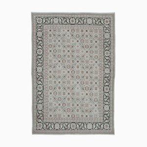 Grey Turkish Handwoven Antique Oushak Carpet