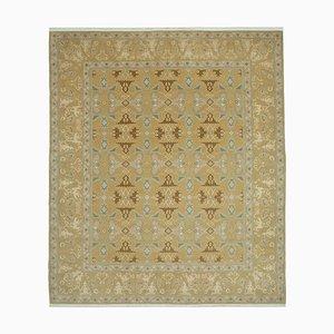 Yellow Anatolian Handmade Wool Oushak Carpet