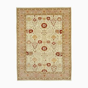 Handgeknüpfter orientalischer Oushak Teppich aus handgewebter Wolle