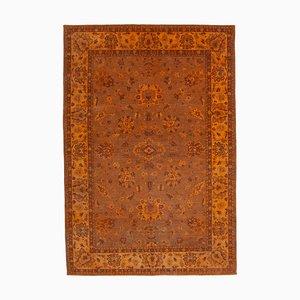 Orange Anatolian Handmade Wool Large Oushak Carpet