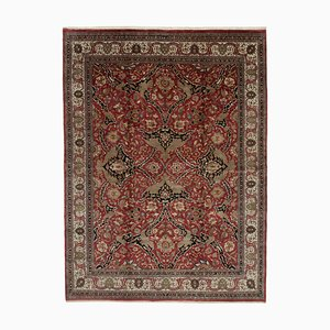 Red Anatolian  Handwoven Antique Large Oushak Carpet