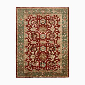 Red Antique Hand Knotted Wool Large Oushak Carpet