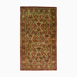 Red Anatolian  Handwoven Antique Small Oushak Carpet