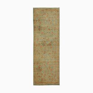 Green Oriental Handmade Wool Runner Oushak Carpet