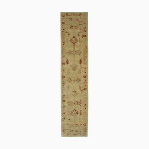 Yellow Antique Handmade Wool Runner Oushak Carpet