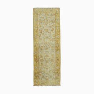 Yellow Decorative Handmade Wool Runner Oushak Carpet