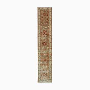 Beige Oriental Handwoven Antique Runner Oushak Carpet