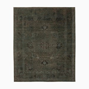 Grey Traditional Hand Knotted Wool Large Oushak Carpet