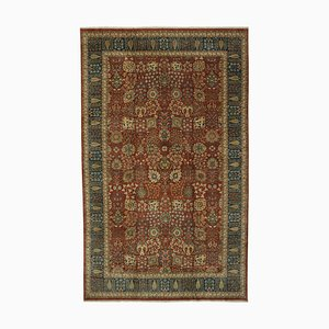 Red Turkish Handwoven Antique Large Oushak Carpet
